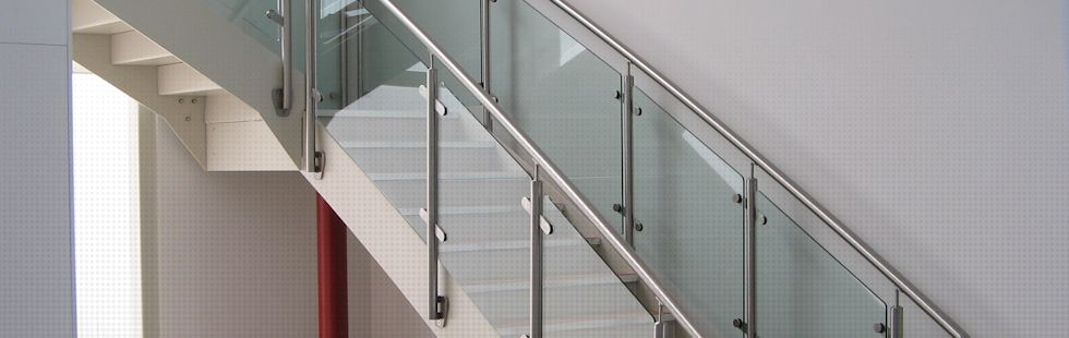 Powder Coated Steel stairs with stainless steel balusters and handrail and toughened glass panels