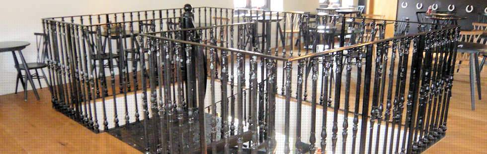 Cast Iron Spiral Staircase Stairwell Balustrading