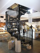 Cast Iron Spiral Staircase with traditional Tread and Balustrading