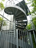 External Access Spiral Staircase with feature steel stringer and Balustrading