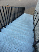 Galvanised Durbar Stair Treads with cast iron balustrading