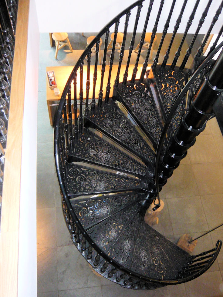 Cast iron spiral staircases for Victorian spiral staircase