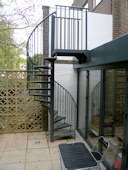 Galvanised Powder Coated, Garden Access Spiral Staircase