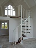 Domestic Steel and Hardwood Spiral Staircase