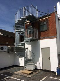 Galvanised Fire Escape Stairs