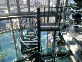 Spiral staircase to penthouse in the Southbank Tower