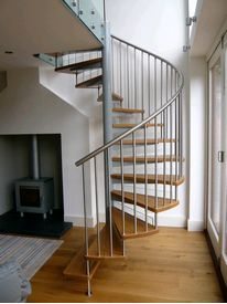Domestic spiral staircase in Leicester house extension