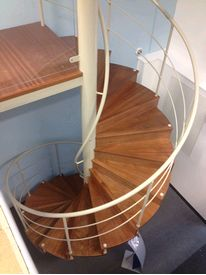 Commercial spiral staircase to main reception area